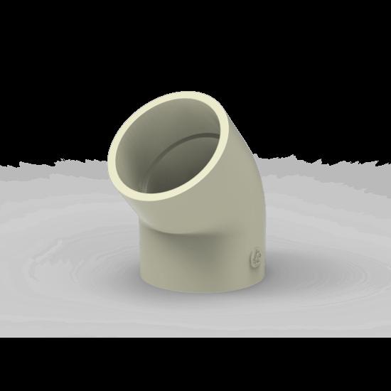 Gomito 45° polipropilene polifusione tasca