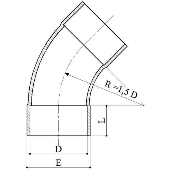 Curva 45 Raccordi PVC