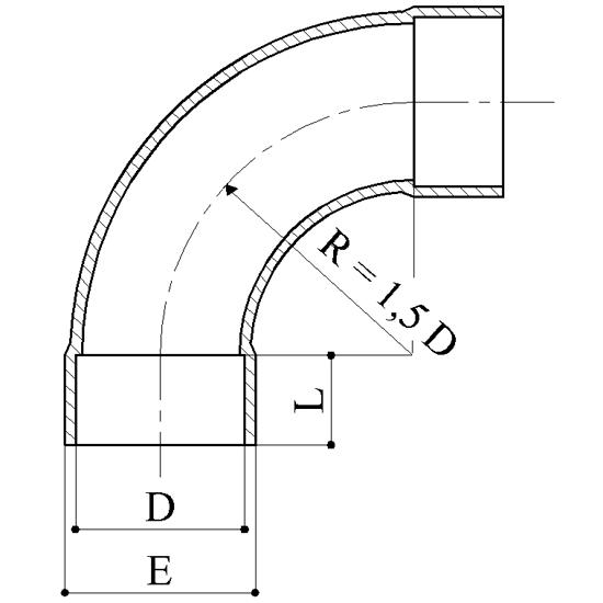 Curva 90 Raccordi PVC